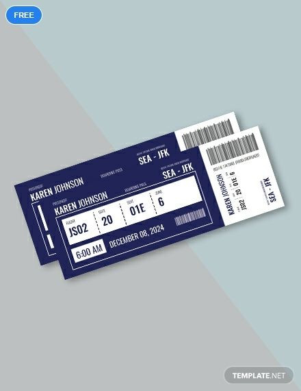Plane Ticket Template Word Free Plane Ticket Template Word Doc Psd