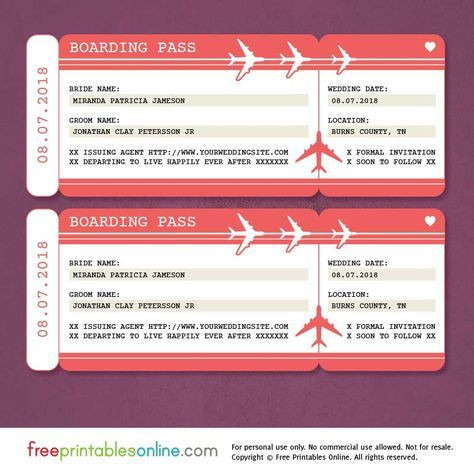 Plane Ticket Template Word Free Printable Boarding Pass Save the Date Template