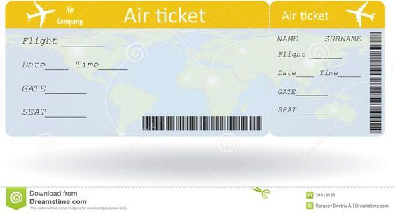 Plane Ticket Template Word International Plane Ticket Template Google Search