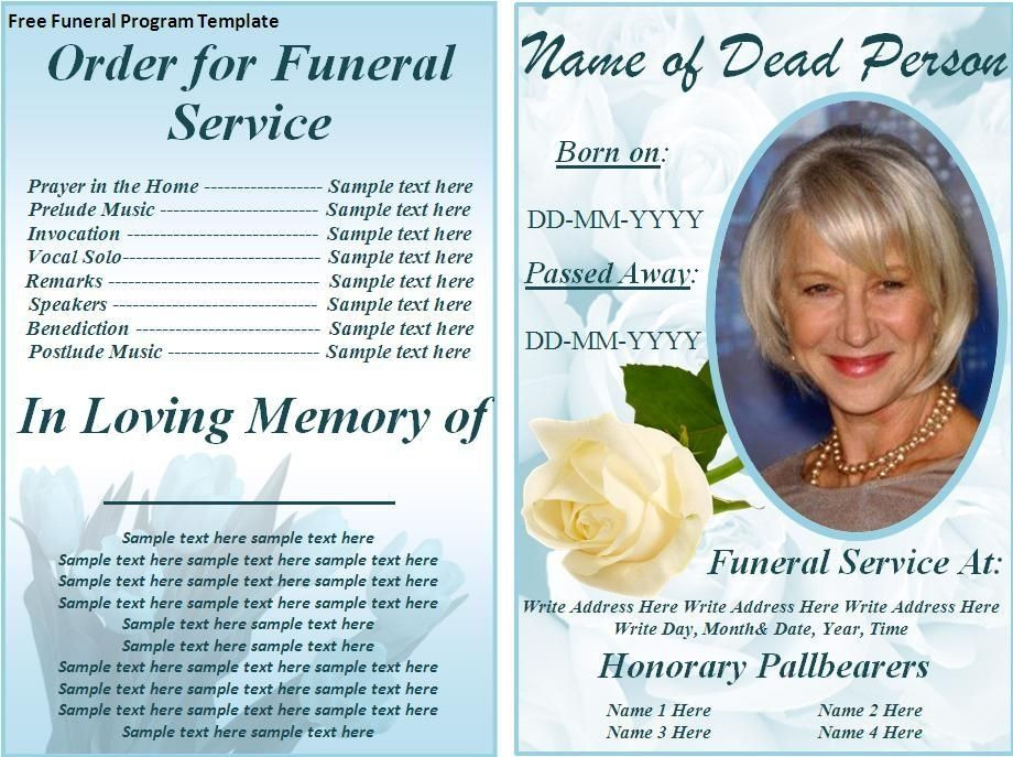 Planning A Funeral Service Template Funeral Flyer Templates