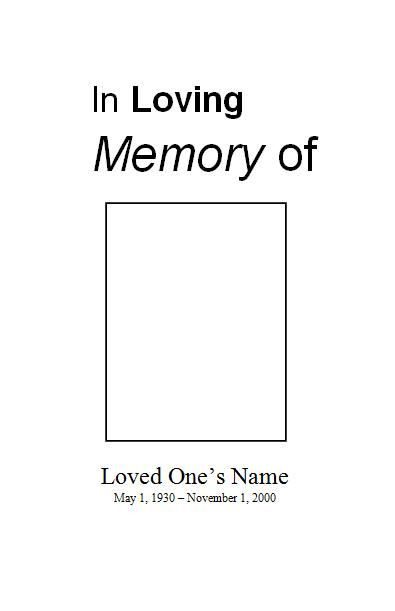 Planning A Funeral Service Template Funeral Pamphlets Free Funeral Program Template