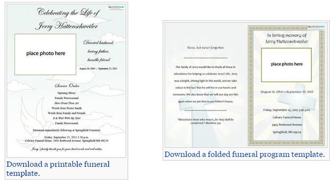 Planning A Funeral Service Template Our Favorite Actually Free Funeral Program Templates