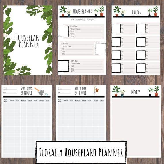 Plant Feeding Schedule Template Houseplant Planner Garden Planner Plant Planner Printable