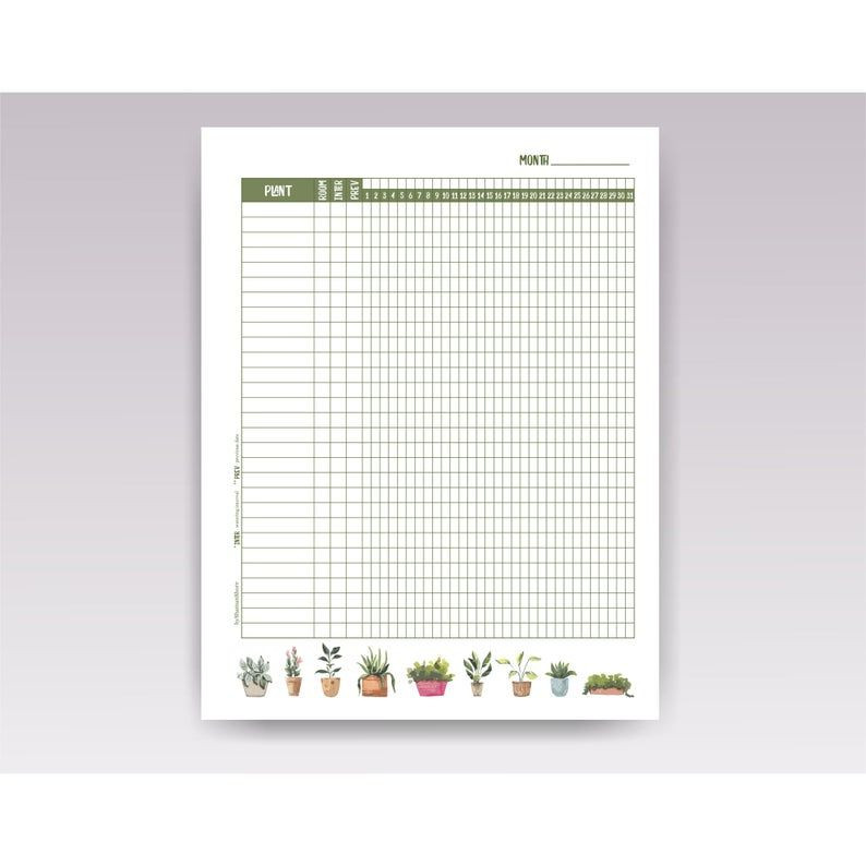 Plant Feeding Schedule Template Pin On Plants