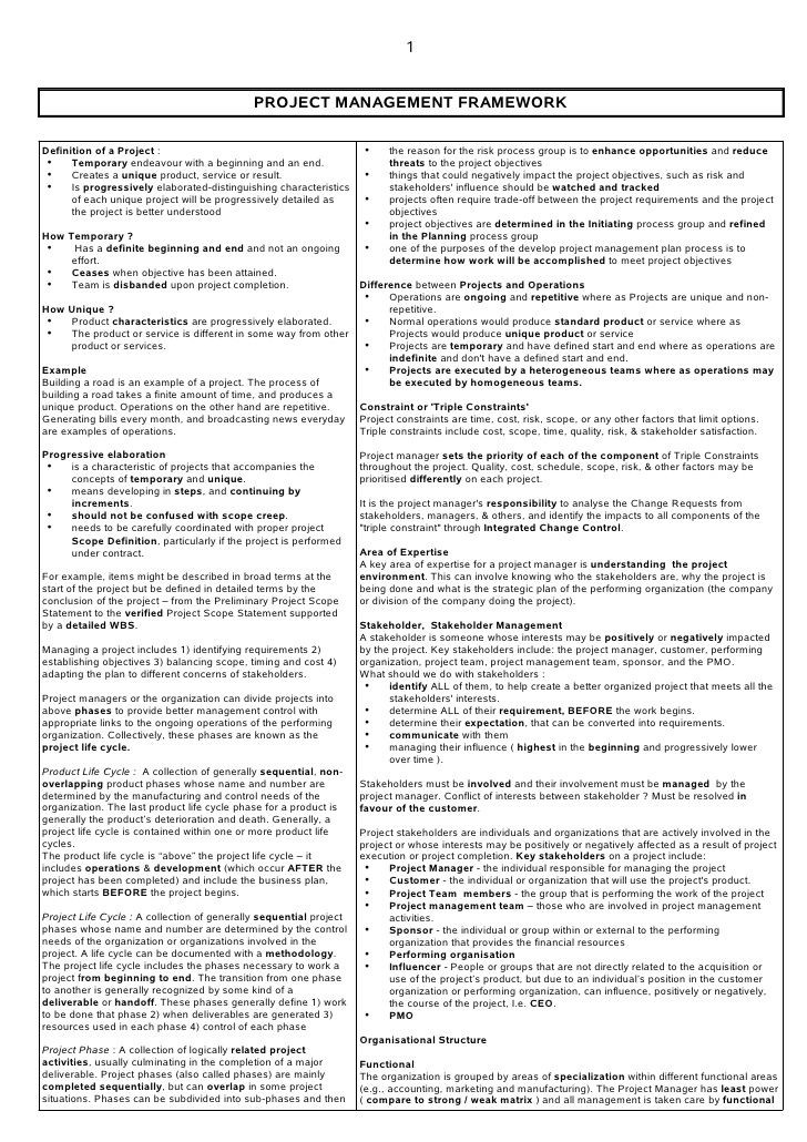 Pmp Study Plan Template Pmp Study Note