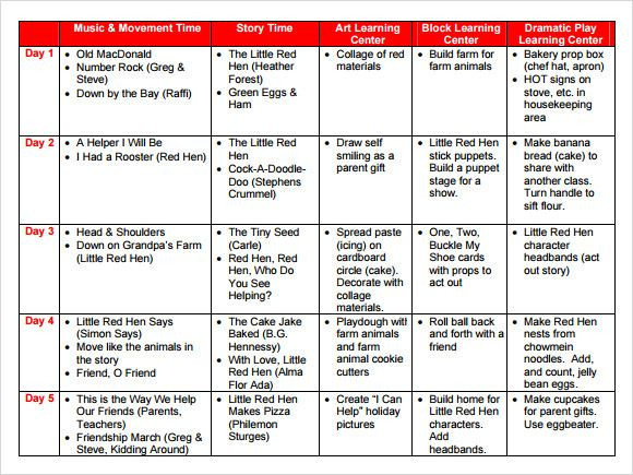 Pre K Lesson Plan Template Pin by Kelene Russ On Classroom themes