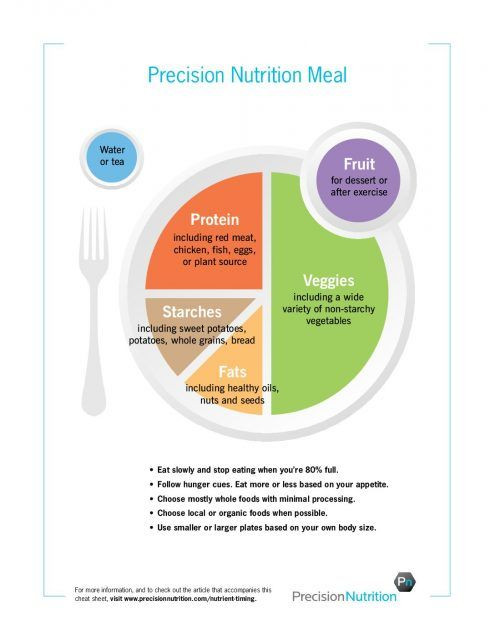 Precision Nutrition Meal Plan Template Precision Nutrition S Guide to Portion Control Using Your
