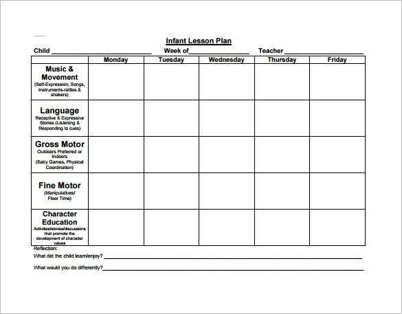 Preschool Blank Lesson Plan Template 2 Year Old Lesson Plan Template Preschool Lesson Plan