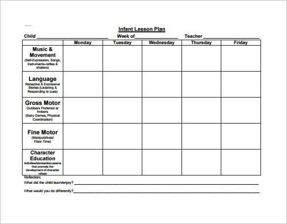Preschool Lesson Plan Template Free Preschool Lesson Plan Template Check More at S