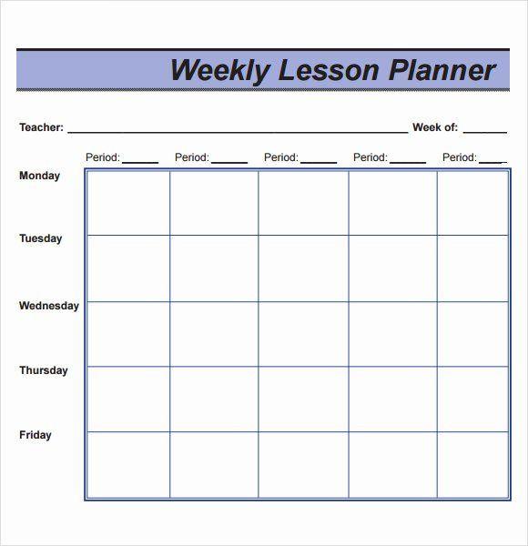 Preschool Lesson Plan Template Pdf Weekly Lesson Plan Template Pdf Lovely Free 8 Sample Lesson