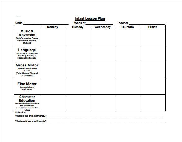 Preschool Lesson Plan Template Word Preschool Lesson Plan Template Check More at S