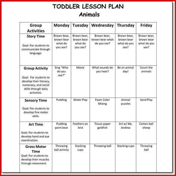 Preschool Lesson Plans Template Creative Curriculum for Preschool Lesson Plan Templates with