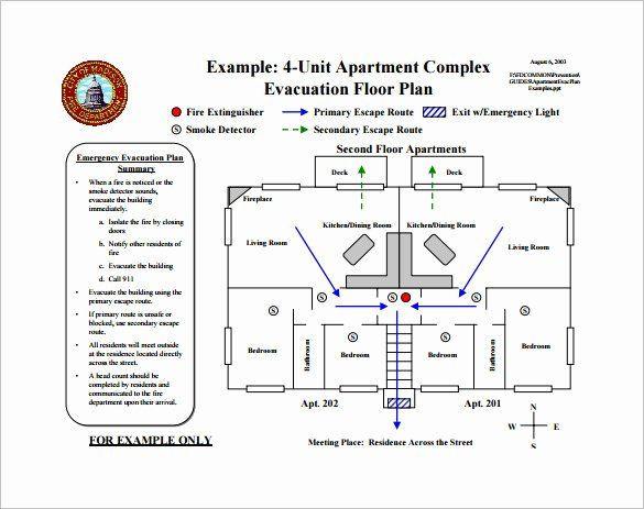 Printable Fire Escape Plan Template Fire Escape Plan Template Elegant Emergency Evacuation Plan