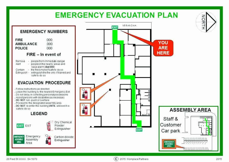 Printable Fire Escape Plan Template Fire Evacuation Plan Template Inspirational Home Emergency