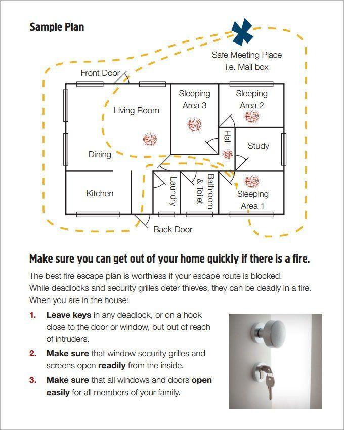 Printable Fire Escape Plan Template Printable Fire Escape Plan Template 7 Home Evacuation Plan