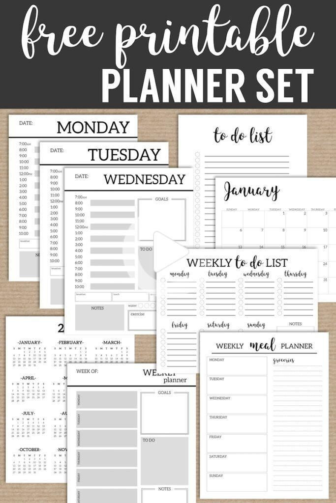 Printable Planner Template Monthly Planner Template Printable Planner Pages Free