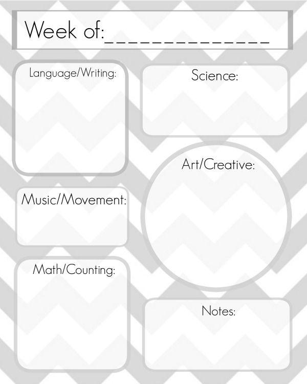 Printable Preschool Lesson Plan Template Free Lesson Plan Template Printable Delicate Construction