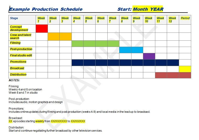 Production Plan Template Production Schedule Template Excel & Word