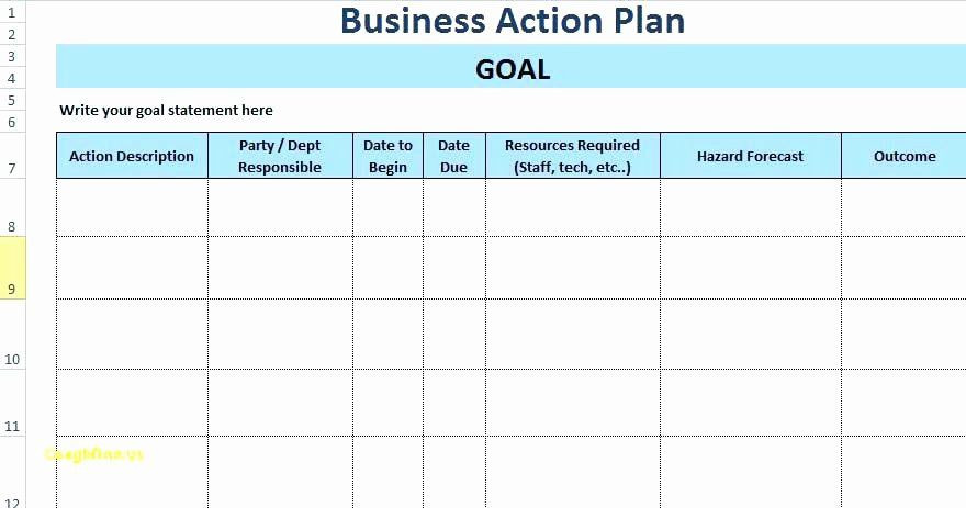 Project Action Plan Template Excel Project Action Plan Template Awesome Project Action Plan