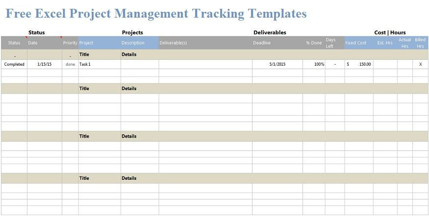 Project Execution Plan Template Excel Download Free Excel Project Management Templates and Manage