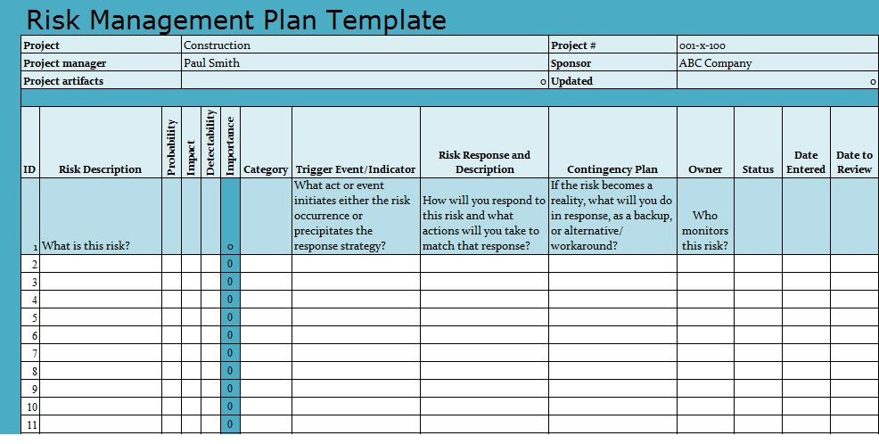 Project Execution Plan Template Excel Pin On Excel