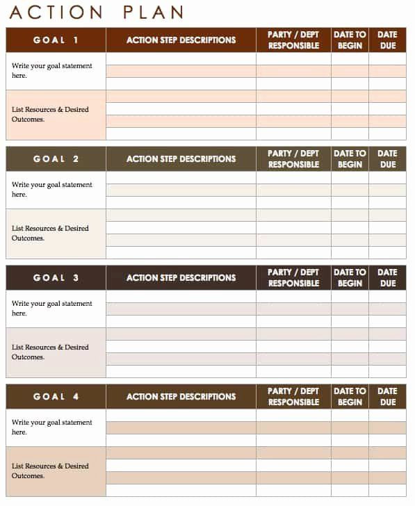 Project Implementation Plan Template Excel √ 30 Marketing Action Plan Template Excel In 2020