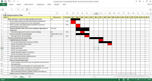 Project Implementation Plan Template Excel Pin On ضضض