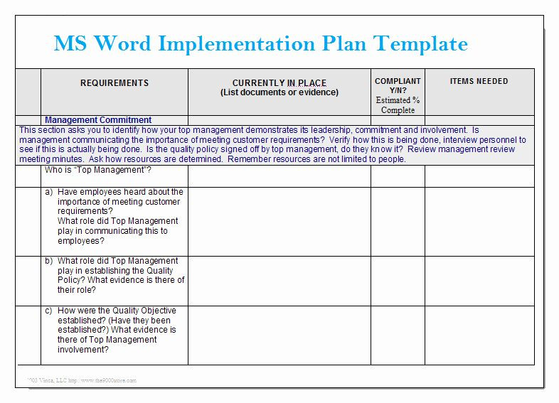 Project Implementation Plan Template Excel Project Implementation Plan Template Inspirational Ms Word