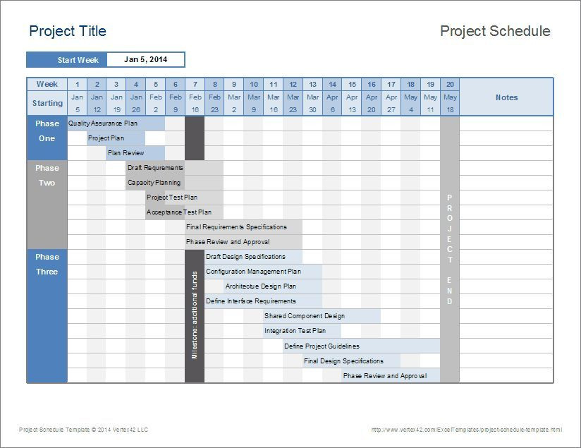 Project Plan Template Excel 2013 15 Project Management Templates for Excel