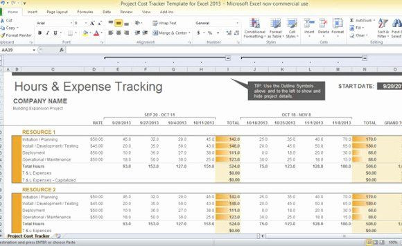 Project Plan Template Excel 2013 Cost Management Plan Template Awesome Project Cost Tracker