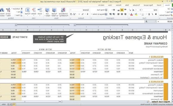 Project Plan Template Excel 2013 Excel Project Management Template