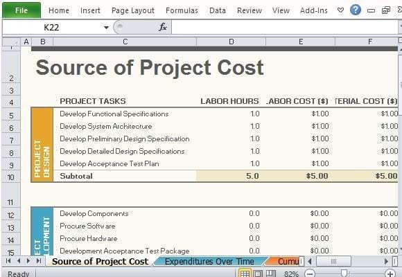 Project Plan Template Excel 2013 Project Bud Template 578