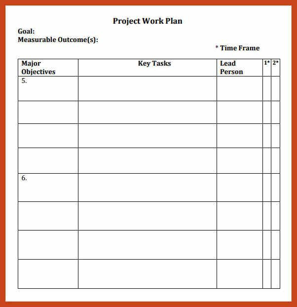 Project Work Plan Template Excel How to Make A Work Plan Template