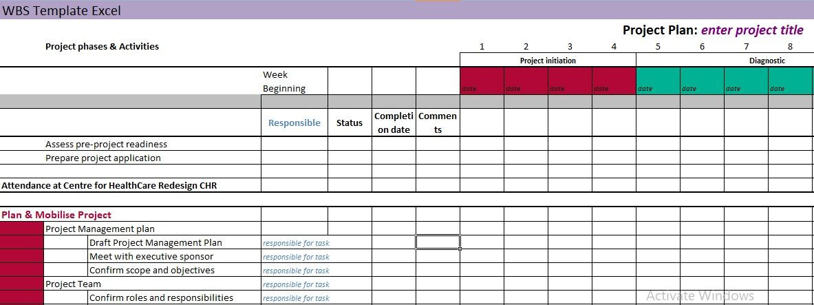Project Work Plan Template Excel Pin Auf Project Management