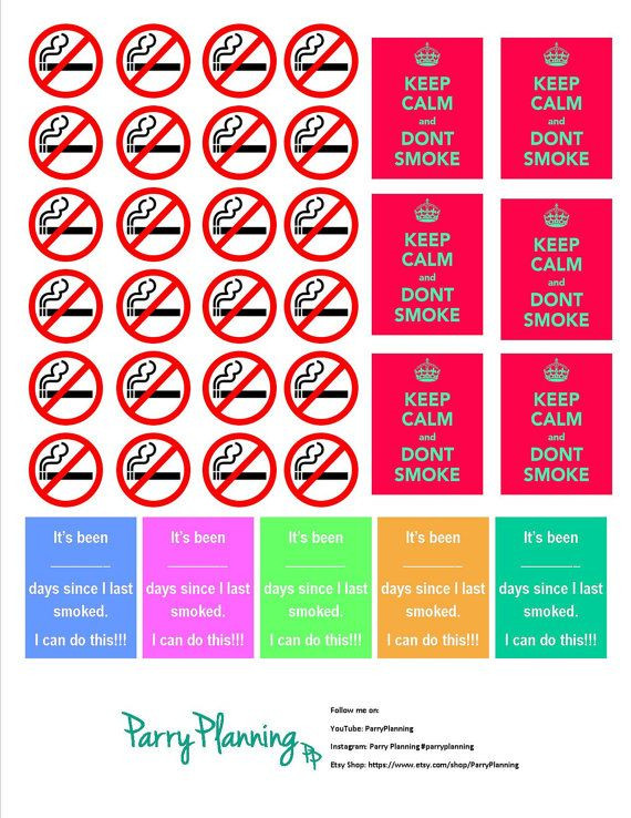 Quit Smoking Plan Template Pin On Planners Journals Papers Bookmaking Cards Envelopes