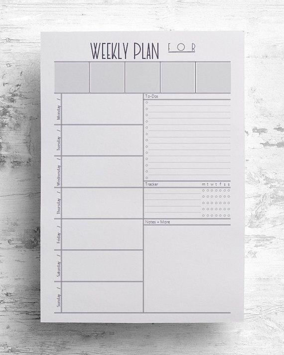 Quit Smoking Plan Template Weekly Planner Weekly Printable Letter Half Inserts Planner
