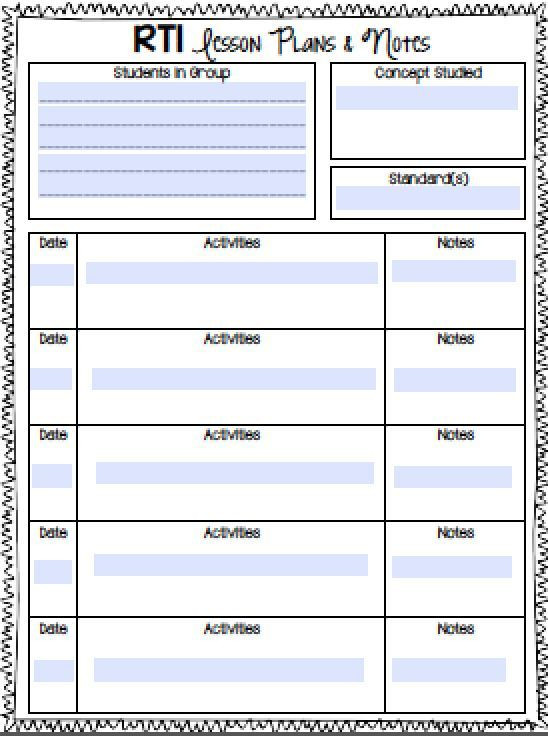 Reading Intervention Lesson Plan Template I M Thrilled that for the First Time Ever I Feel organized