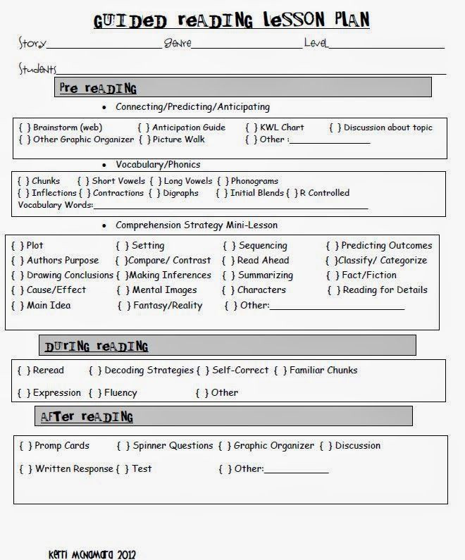 Reading Mastery Lesson Plan Template First is My Favorite Guided Reading Lesson Plan