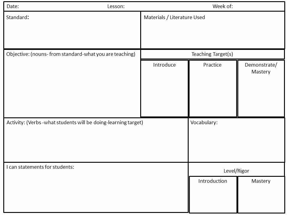 Reading Mastery Lesson Plan Template Mon Core Lesson Plan Template Luxury Reading Mastery