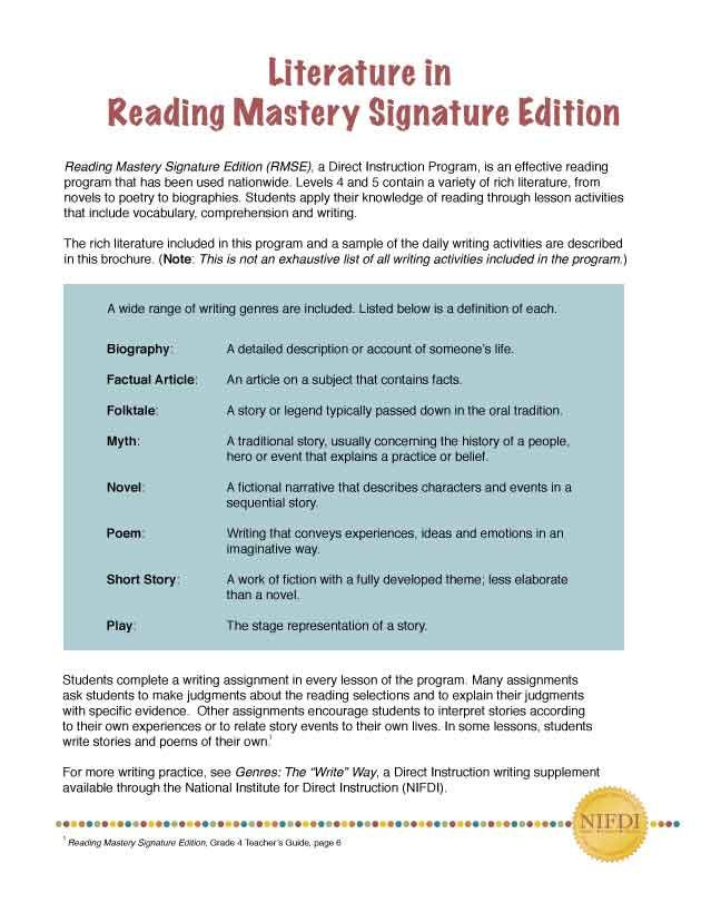 Reading Mastery Lesson Plan Template Reading Mastery