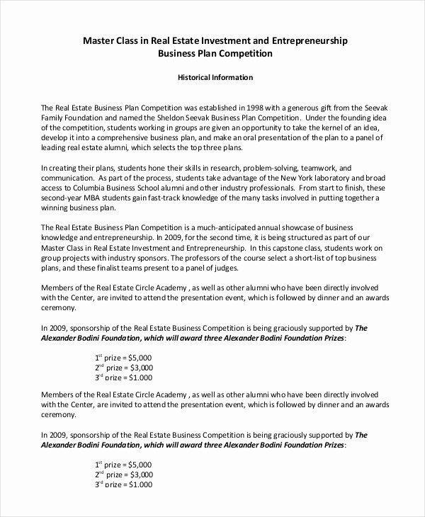 Real Estate Business Plan Template Real Estate Development Proposal New Real Estate Development