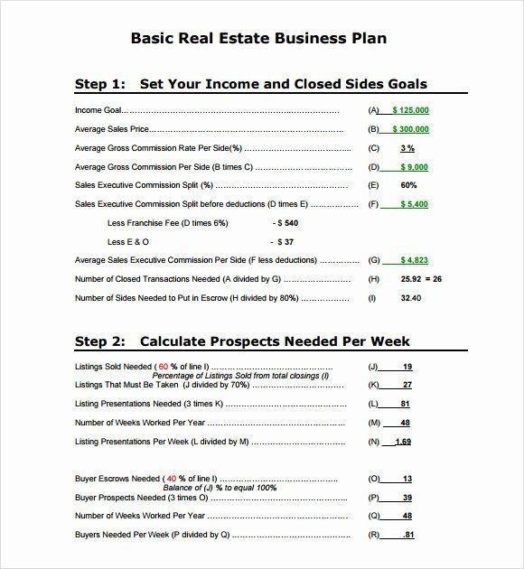 Real Estate Business Plan Template Simple Business Plan Template Pdf Fresh 10 Real Estate