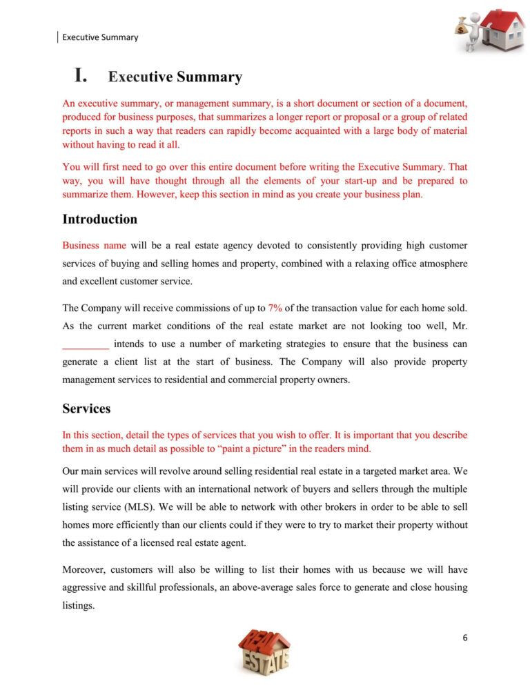 Realtor Business Plan Template Realtor Business Plan Mplate This Free Real Estate Proposal