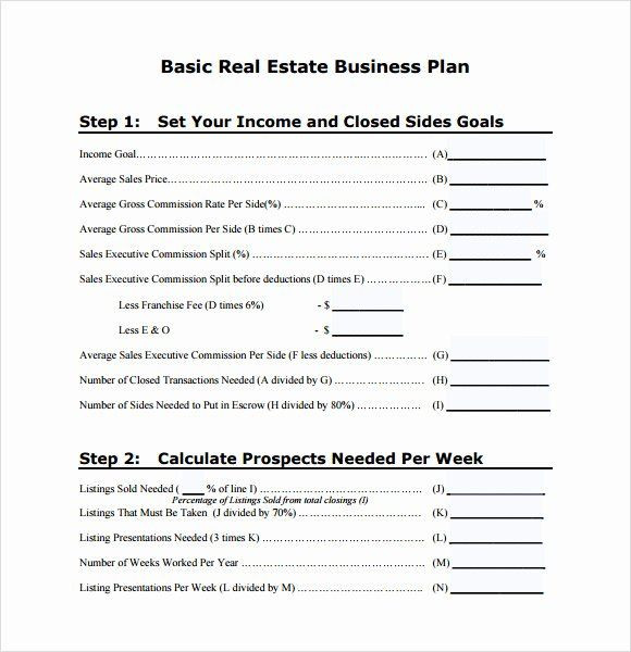 Realtor Business Plan Template Realtor Business Plan Template Lovely Free 13 Real Estate