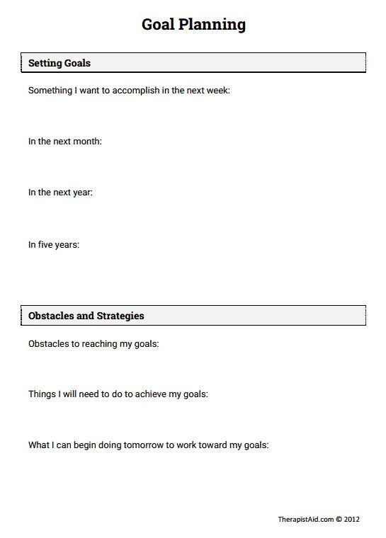 Relapse Prevention Plan Template Stress Management Goal Planning Preview
