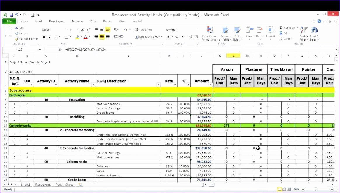 Resource Capacity Plan Template Resource Planning Template Excel Best 6 Resource Capacity