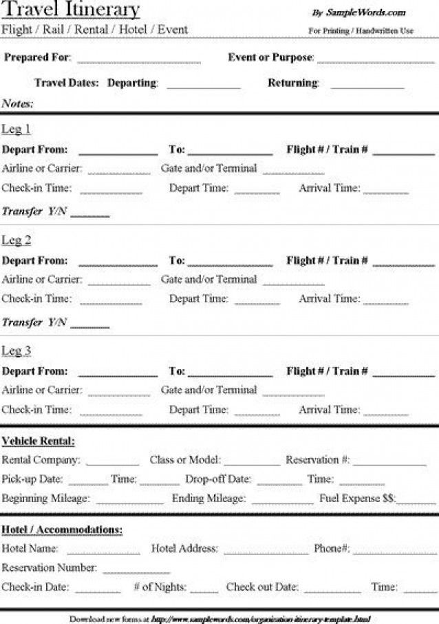 Road Trip Planner Template Free Download Travel Itinerary Template