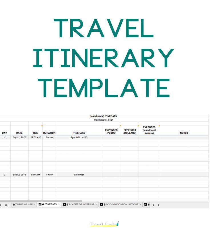 Road Trip Planner Template How to Plan A Trip Free Travel Itinerary Template