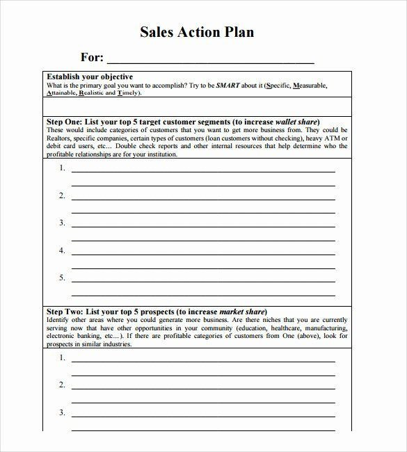 Sales Action Plan Template Weekly Sales Plan Template Beautiful Sales Action Plan