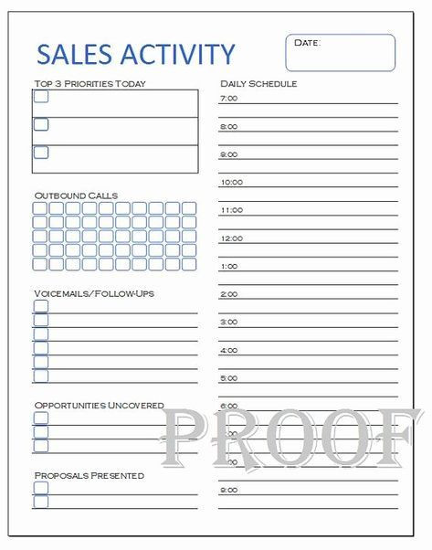 Sales Daily Planner Template Sales Call Plan Template Beautiful Sales Activity Tracker